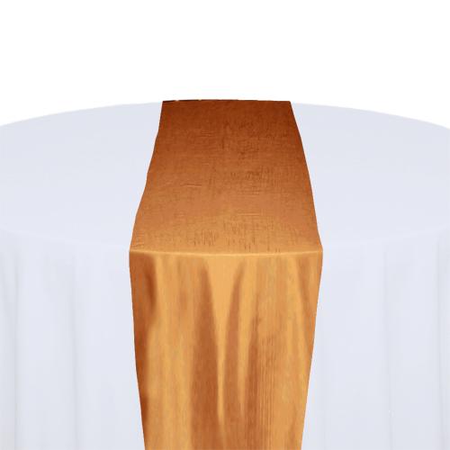 Orange Taffeta Table Runner Rental Orange Taffeta Table Runner Rental
