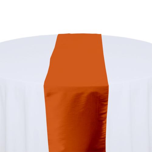 Burnt Orange Taffeta Table Runner Rental Burnt Orange Taffeta Table Runner Rental