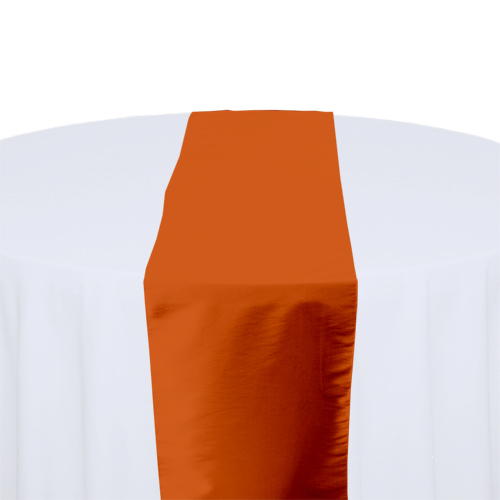 Burnt Orange Taffeta Table Runner Rental