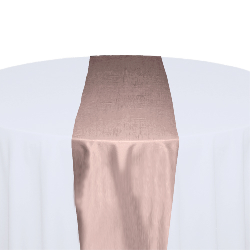 Blush Taffeta Table Runner Rental
