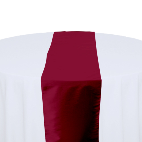 Claret Taffeta Table Runner Rental Claret Taffeta Table Runner Rental