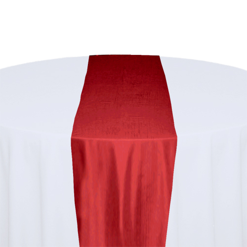 Red Taffeta Table Runner Rental
