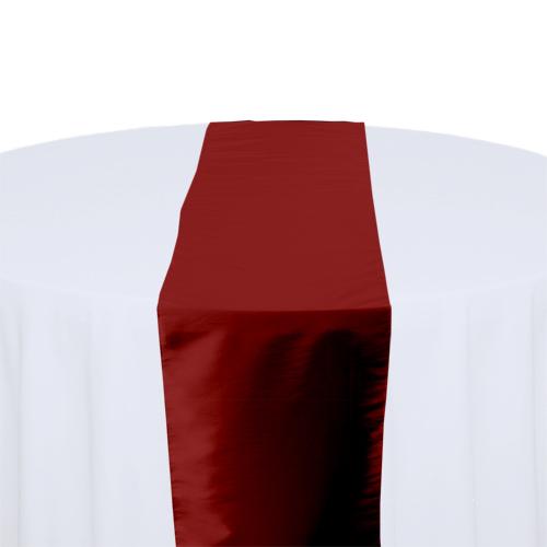 Apple Red Taffeta Table Runner Rental