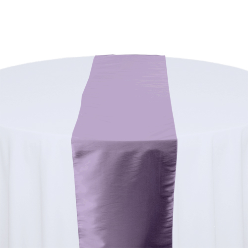 Lavender Blue Taffeta Table Runner Rental