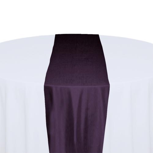 Eggplant Taffeta Table Runner Rental