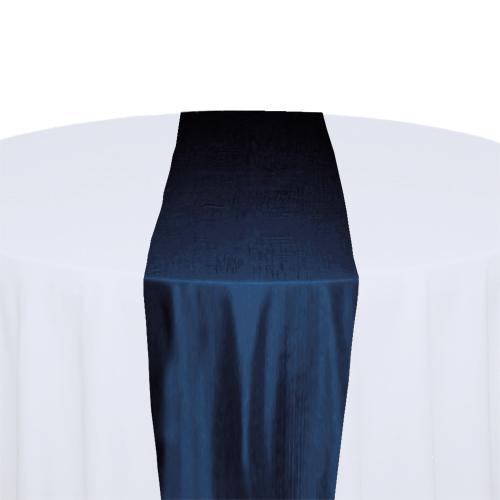 Midnight Blue Taffeta Table Runner Rental