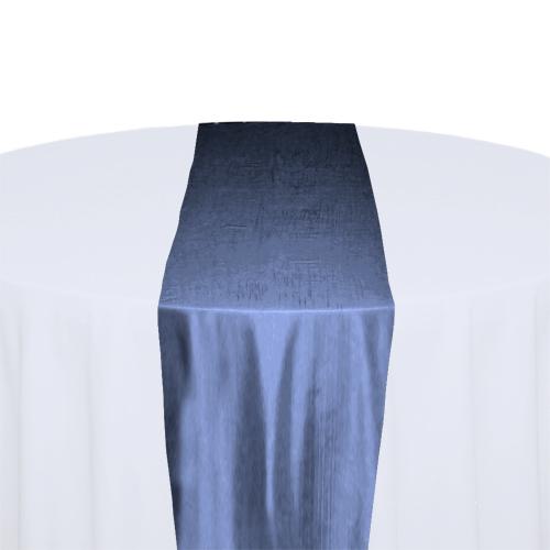 French Blue Taffeta Table Runner Rental French Blue Taffeta Table Runner Rental