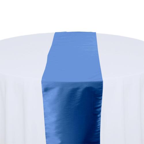 Medium Blue Taffeta Table Runner Rental