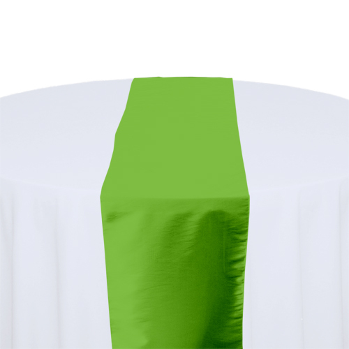 Chartreuse Taffeta Table Runner Rental Chartreuse Taffeta Table Runner Rental