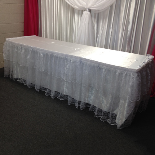 Lace Table Skirting Rental Lace Table Skirting Rental