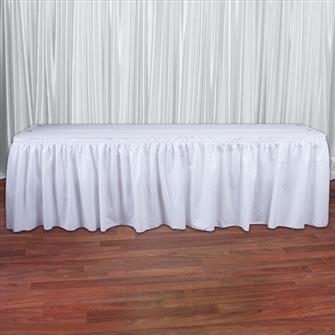 White Cottoneze Table Skirt Rental White Cottoneze Table Skirt Rental