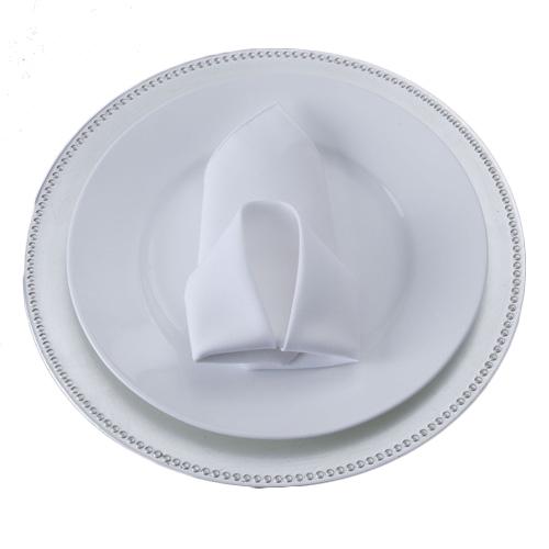 White Napkins White Polyester Napkin Rental