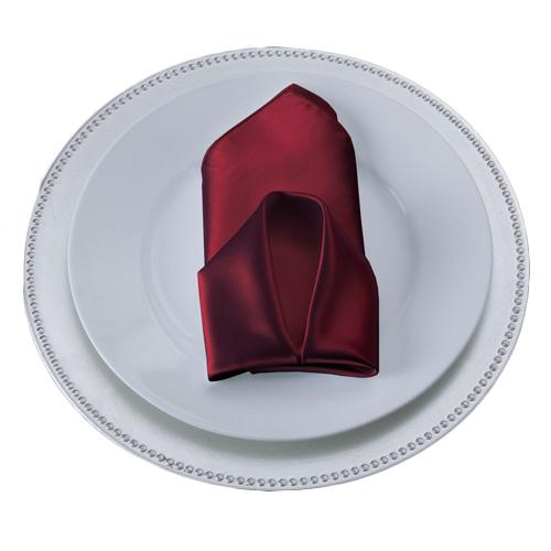 Burgundy Napkins Burgundy Polyester Satin Napkin Rental
