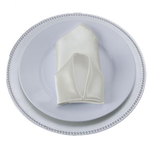 Ivory Satin Napkins Ivory Polyester Satin Napkin Rental