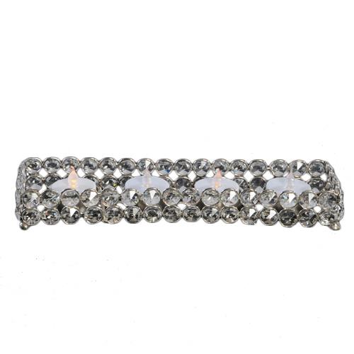 Crystal Gem Rectangle Tealight Holder Rental Crystal Gem Rectangle Tealight Holder Rental