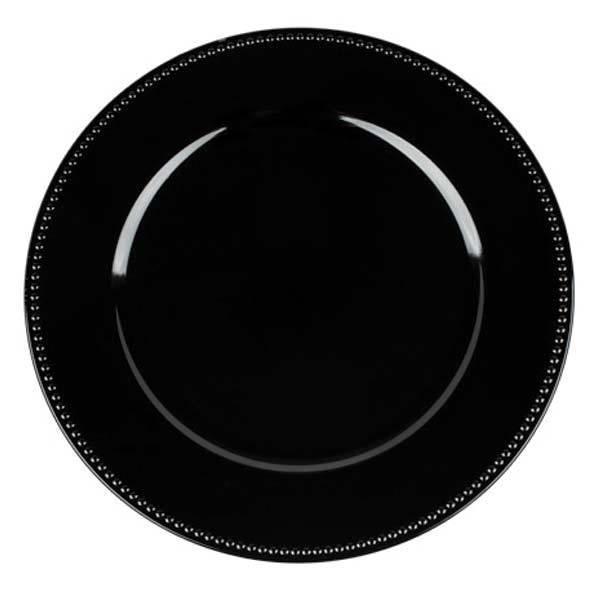 Black Charger Plates Black Charger Plates Rental