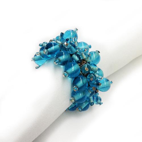 Aqua Beaded Napkin Rings Aqua Napkin Ring Rental
