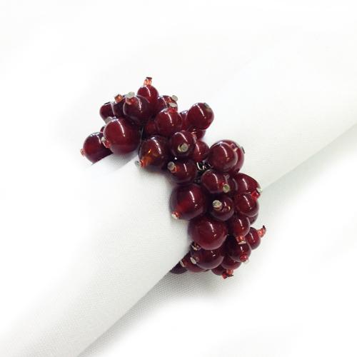 Raspberry Beaded Napkin Rings Raspberry Napkin Ring Rentals