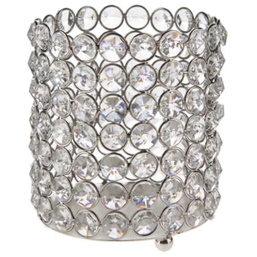 Medium Crystal Gem Pillar Candle Holder Rental Medium Crystal Gem Pillar Candle Holder Rental