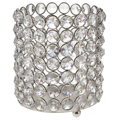 Medium Crystal Gem Pillar Candle Holder Rental