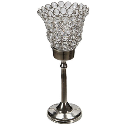 Small Crystal Gem Long Stem Votive Holder Rental