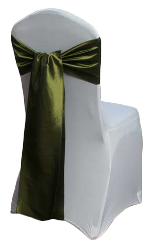 Fern Taffeta Chair Sashes Fern Taffeta Sash Rental