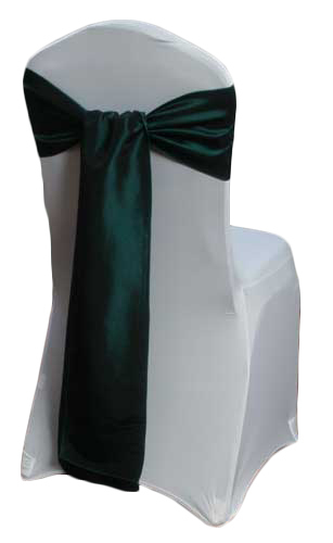 Forest Green Taffeta Chair Sashes