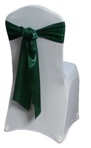 Hunter Green Organza Satin Chair Sashes Hunter Green Organza Satin Sash Rental