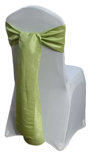 Kiwi Taffeta Chair Sashes Kiwi Taffeta Sash Rental
