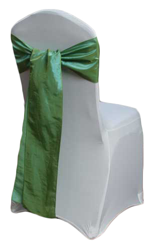 Sage Green Taffeta Chair Sashes