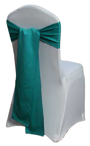 Jade Matte Satin Chair Sashes Jade Matte Satin Chair Sashes