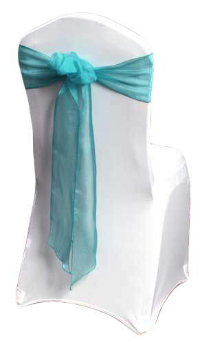 Teal Organza Sheer Chair Sashes