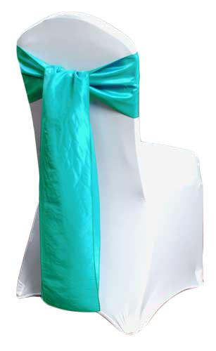 Turquoise Taffeta Chair Sashes Turquoise Taffeta Sash Rental