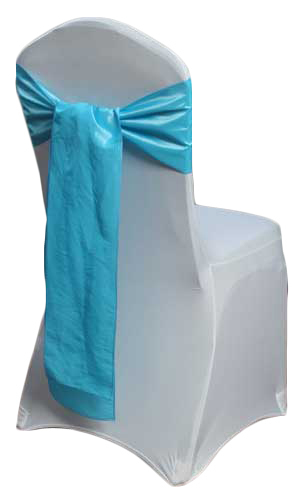 Aqua Taffeta Chair Sashes