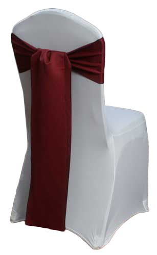 Claret Matte Satin Chair Sashes Claret Matte Satin Chair Sashes