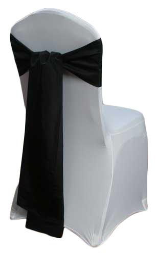 Black Taffeta Chair Sashes Black Taffeta Sash Rental