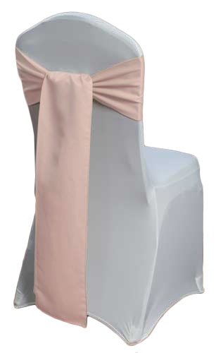 Blush Rose Gold Lamour Matte Satin Blush Lamour Matte Satin Sash Rental