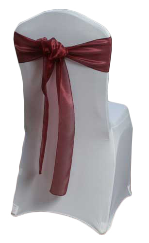 Burgundy Mirror Chair Sashes Burgundy Mirror Sash Rental