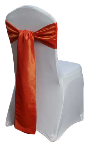 Burnt Orange Taffeta Chair Sashes Burnt Orange Taffeta Sash Rental