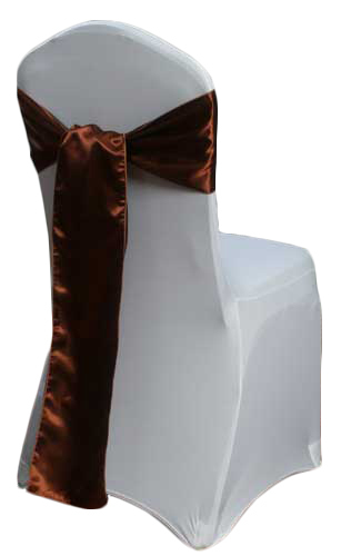 Copper Satin Chair Sash Rental Copper Polyester Satin Chair Sash Rental