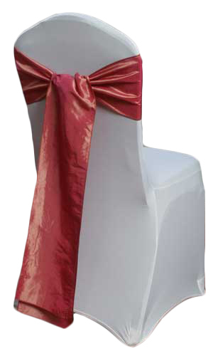 Coral Gold Taffeta Chair Sashes Coral Gold Taffeta Sash Rental