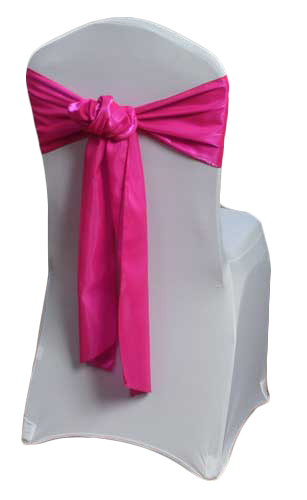 Fuchsia Organza Satin Dark Chair Sashes Fuchsia Organza Satin Dark Sash Rental