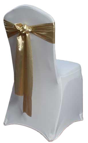 Gold Lamé Chair Sash Rental