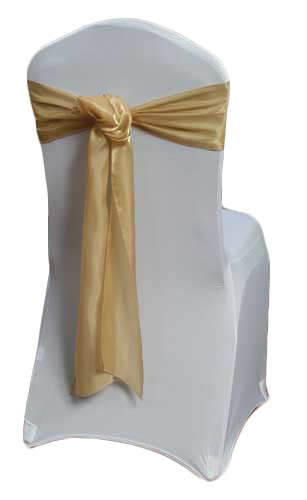 Gold Organza Satin Sash Rental