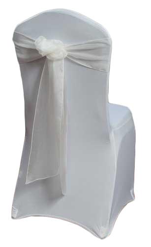 Ivory Organza Sheer Chair Sashes Ivory Organza Sheer Sash Rental