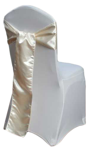 Ivory Satin Chair Sash Rental Ivory Polyester Satin Chair Sash Rental