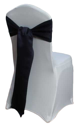 Lapis Matte Satin Chair Sashes