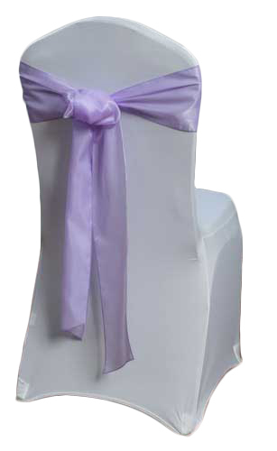 Lavender Organza Satin Chair Sashes Lavender Organza Satin Sash Rental