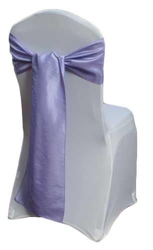 Lavender Taffeta Chair Sashes Lavender Taffeta Sash Rental