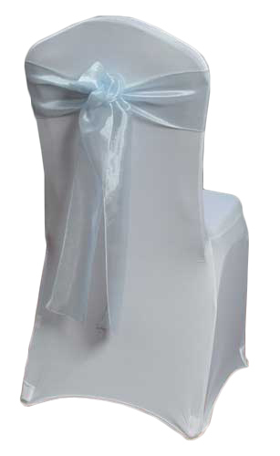 Light Blue Mirror Chair Sashes Light Blue Mirror Sash Rental